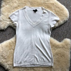 New York and Company Soft Sweater Top Short Sleeve